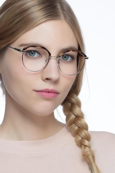 Festival Tortoise Acetate Eyeglass Frames for Women from EyeBuyDirect, Front View