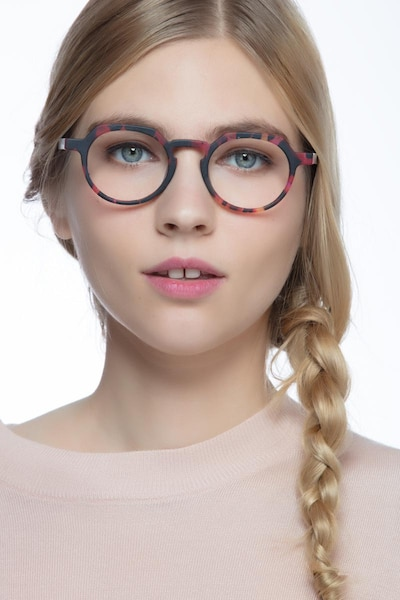Phantasm Speckled rose Acetate Eyeglass Frames for Women from EyeBuyDirect, Front View