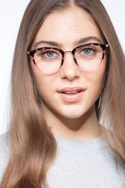 Lightworks Pink Floral Metal Eyeglass Frames for Women from EyeBuyDirect