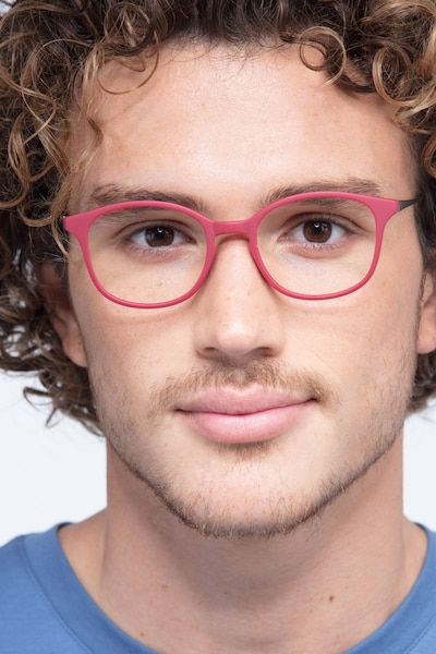 Villa Raspberry Plastic-metal Eyeglass Frames for Men from EyeBuyDirect
