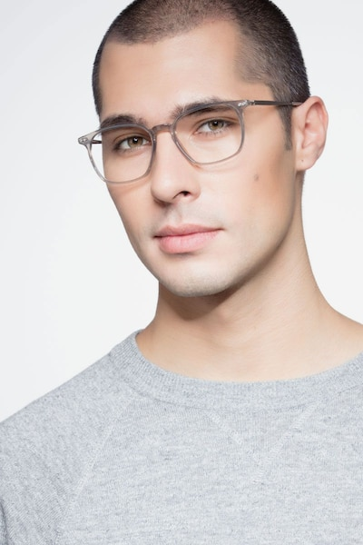 Ghostwriter Gray Metal Eyeglass Frames for Men from EyeBuyDirect