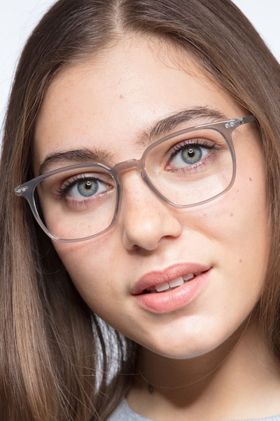 Ghostwriter Gray Metal Eyeglass Frames for Women from EyeBuyDirect
