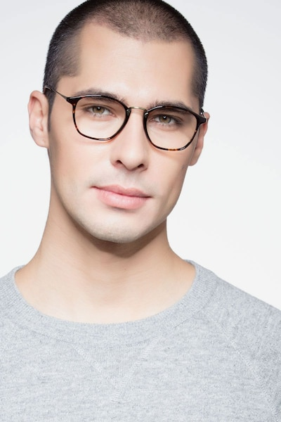 Crave Tortoise Metal Eyeglass Frames for Men from EyeBuyDirect, Front View