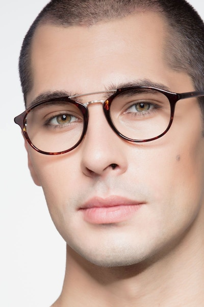 Lola Tortoise  Metal Eyeglass Frames for Men from EyeBuyDirect