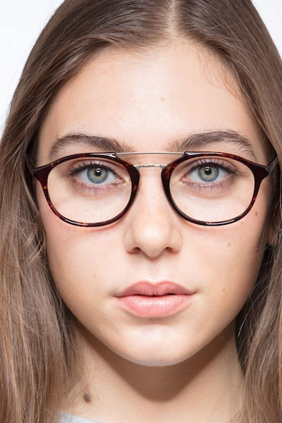Lola Tortoise  Metal Eyeglass Frames for Women from EyeBuyDirect