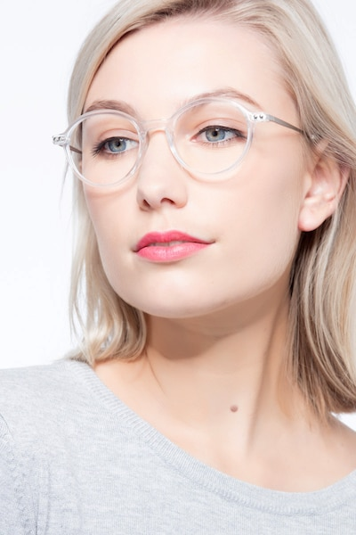 Hijinks Clear Metal Eyeglass Frames for Women from EyeBuyDirect