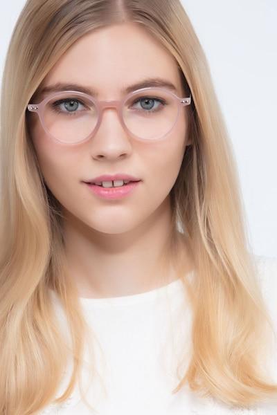 3908298448f Hijinks Pink Metal Eyeglass Frames for Women from EyeBuyDirect