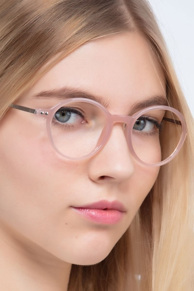 Hijinks Pink Metal Eyeglass Frames for Women from EyeBuyDirect