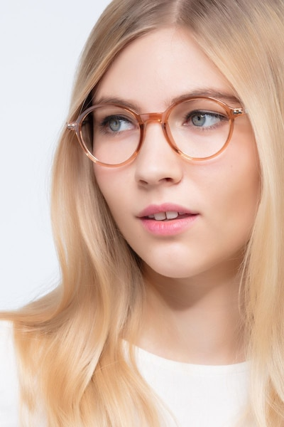 Hijinks Cinnamon Metal Eyeglass Frames for Women from EyeBuyDirect, Front View