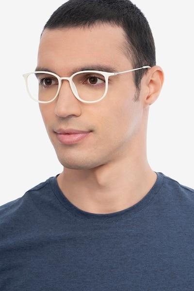 Strike white Plastic-metal Eyeglass Frames for Men from EyeBuyDirect