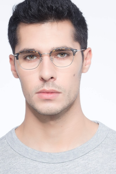 Links Tortoise Metal Eyeglass Frames for Men from EyeBuyDirect, Front View
