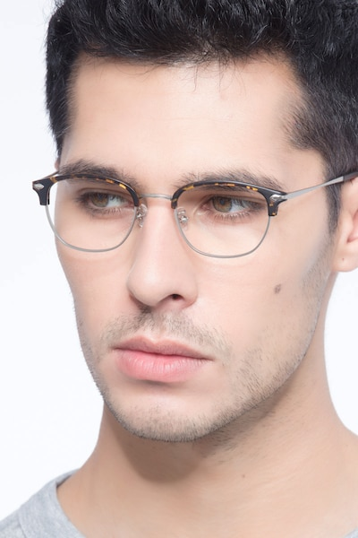 Links Tortoise Metal Eyeglass Frames for Men from EyeBuyDirect