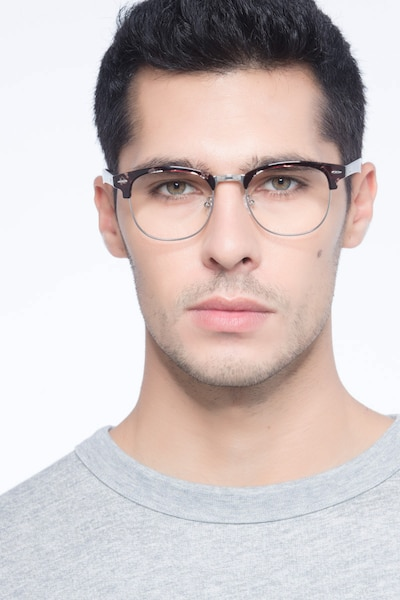 Roots Floral Metal Eyeglass Frames for Men from EyeBuyDirect
