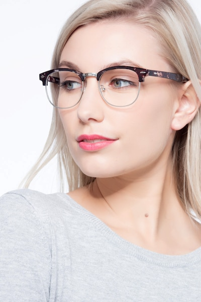 Roots Floral Metal Eyeglass Frames for Women from EyeBuyDirect, Front View