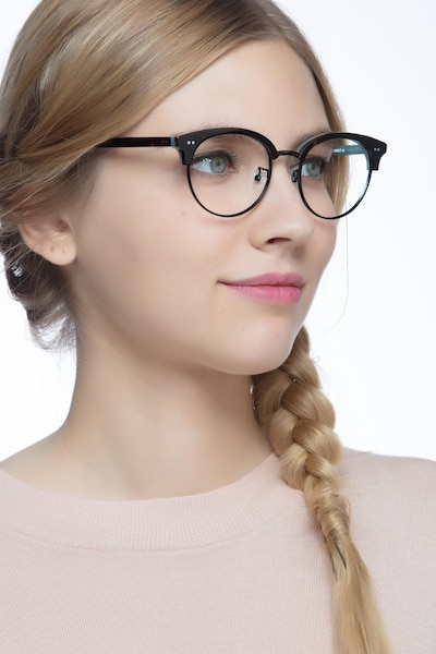 Annabel Tortoise Acetate Eyeglass Frames for Women from EyeBuyDirect, Front View