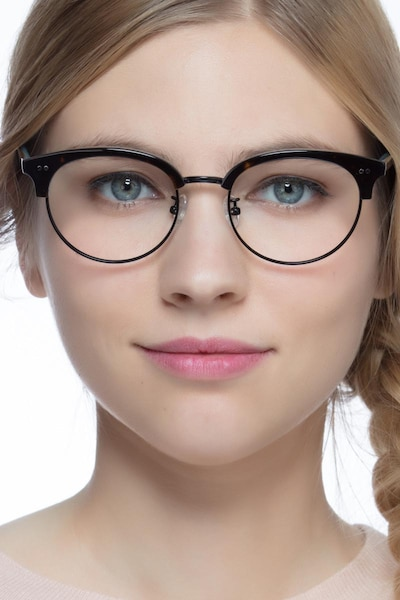 Annabel Tortoise Acetate Eyeglass Frames for Women from EyeBuyDirect