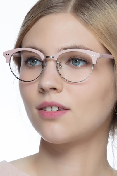 Annabel Pink Acetate Eyeglass Frames for Women from EyeBuyDirect