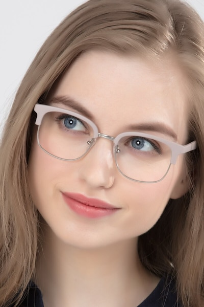Yokote Gray Plastic Eyeglass Frames for Women from EyeBuyDirect