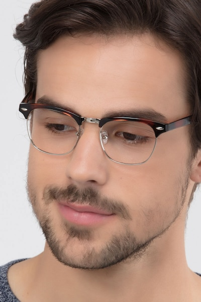 Coexist Tortoise Metal Eyeglass Frames for Men from EyeBuyDirect
