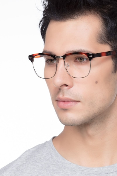 Coexist Tortoise Metal Eyeglass Frames for Men from EyeBuyDirect, Front View