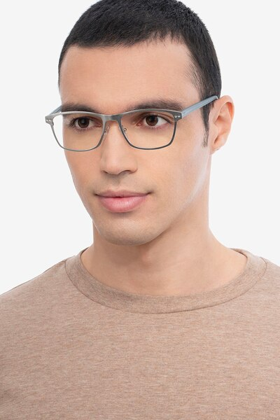 Comity Silver Acetate-metal Eyeglass Frames for Men from EyeBuyDirect