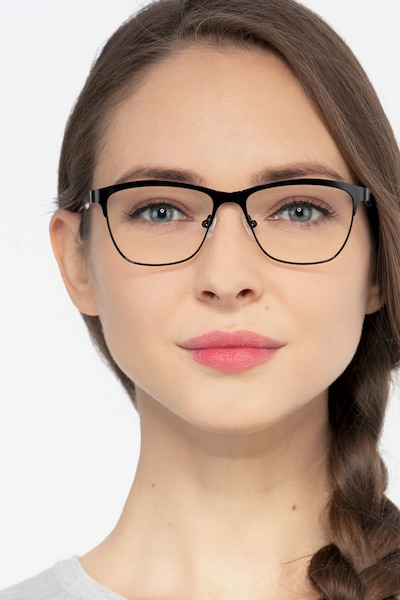 Volary Black Acetate Eyeglass Frames for Women from EyeBuyDirect