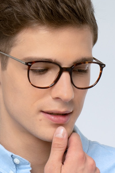 Eros Tortoise Acetate Eyeglass Frames for Men from EyeBuyDirect