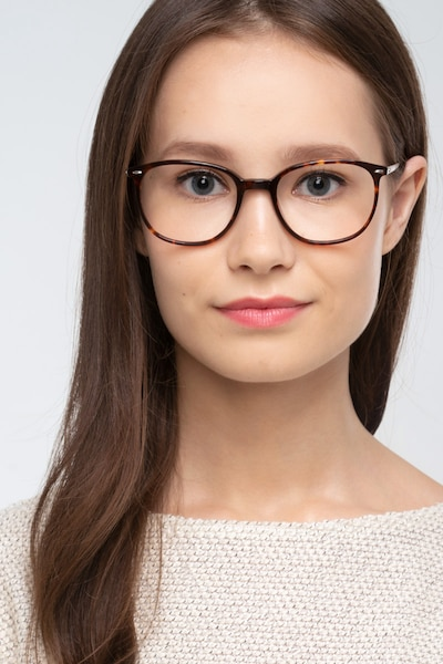 Eros Tortoise Metal Eyeglass Frames for Women from EyeBuyDirect