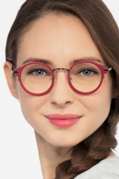 Roto Red Acetate Eyeglass Frames for Women from EyeBuyDirect