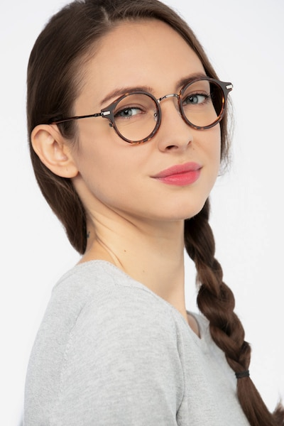 Roto Tortoise Metal Eyeglass Frames for Women from EyeBuyDirect, Front View