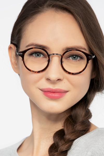 Roto Tortoise Acetate Eyeglass Frames for Women from EyeBuyDirect