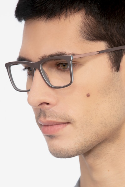 Instance Brown Metal Eyeglass Frames for Men from EyeBuyDirect