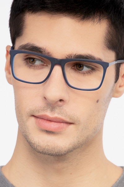Instance Blue Acetate-metal Eyeglass Frames for Men from EyeBuyDirect
