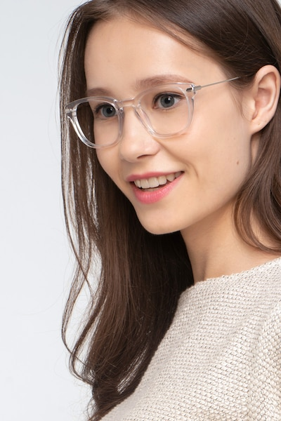 Quazar Clear Acetate Eyeglass Frames for Women from EyeBuyDirect, Front View
