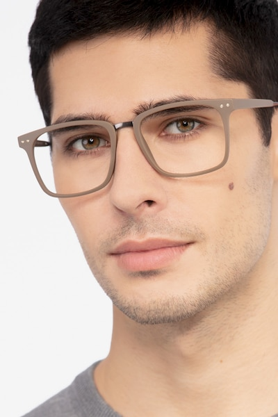 Forte Brown Plastic Eyeglass Frames for Men from EyeBuyDirect