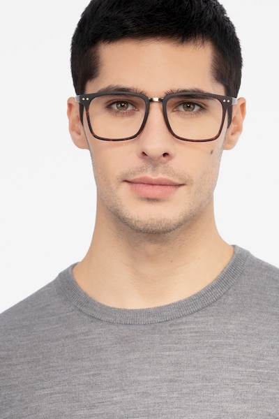 Forte Tortoise Plastic Eyeglass Frames for Men from EyeBuyDirect