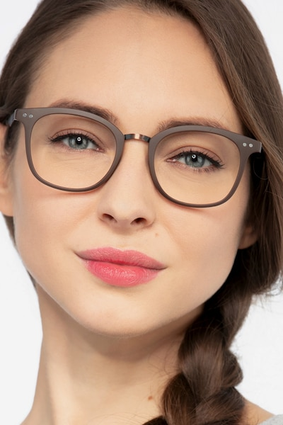 Lyric Brown Plastic Eyeglass Frames for Women from EyeBuyDirect