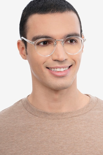 Chillax Clear Plastic Eyeglass Frames for Men from EyeBuyDirect, Front View