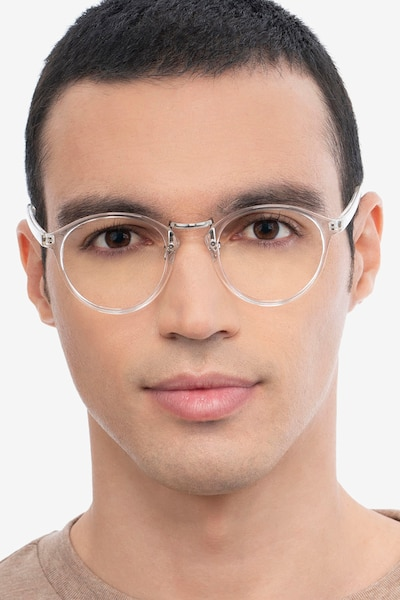 Chillax Clear Metal Eyeglass Frames for Men from EyeBuyDirect