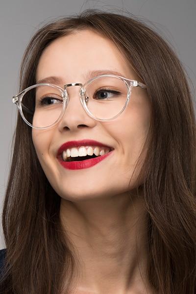 Chillax Clear Metal Eyeglass Frames for Women from EyeBuyDirect