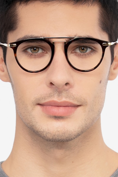 Alba Tortoise Metal Eyeglass Frames for Men from EyeBuyDirect