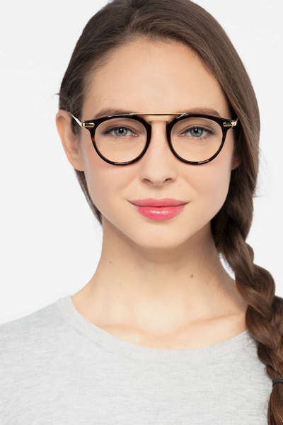 Alba Tortoise Metal Eyeglass Frames for Women from EyeBuyDirect