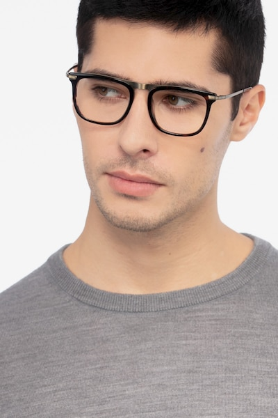 Kompa Tortoise Acetate Eyeglass Frames for Men from EyeBuyDirect, Front View