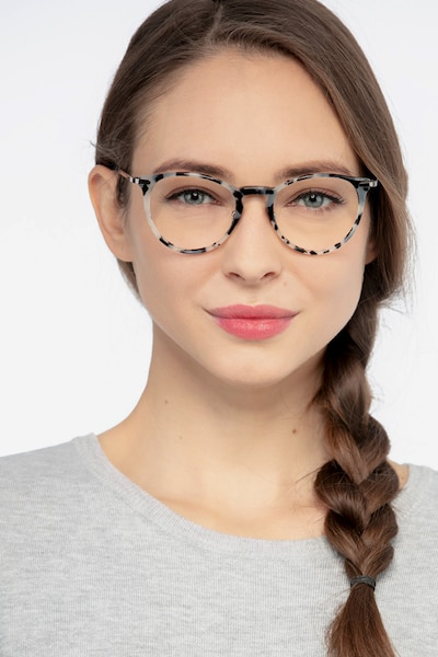 Iris Tortoise Acetate Eyeglass Frames for Women from EyeBuyDirect, Front View