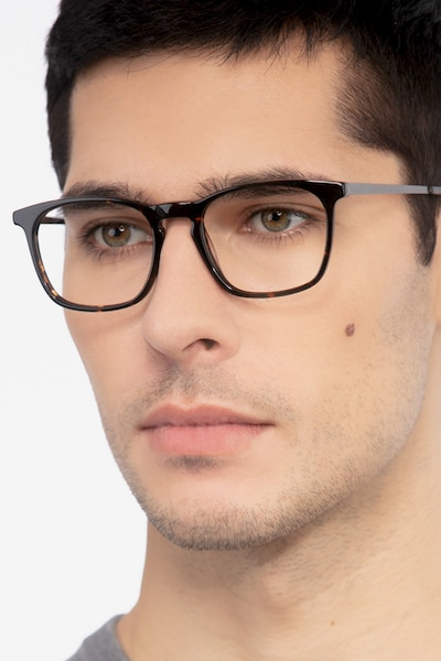 Tuesday Tortoise Metal Eyeglass Frames for Men from EyeBuyDirect