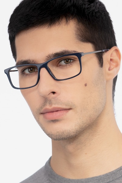 Marvel Blue Acetate Eyeglass Frames for Men from EyeBuyDirect