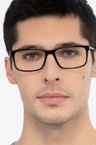 Marvel Black Acetate Eyeglass Frames for Men from EyeBuyDirect