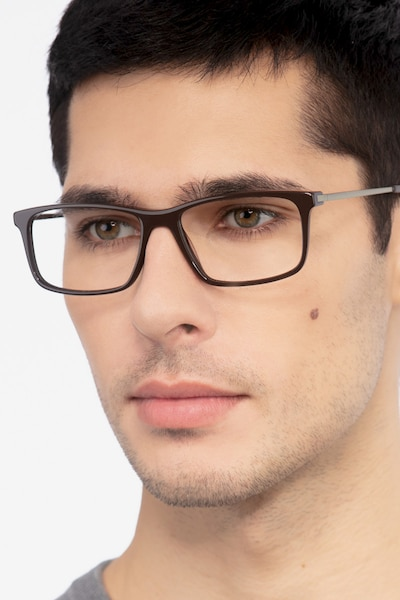 Marvel Brown Acetate Eyeglass Frames for Men from EyeBuyDirect