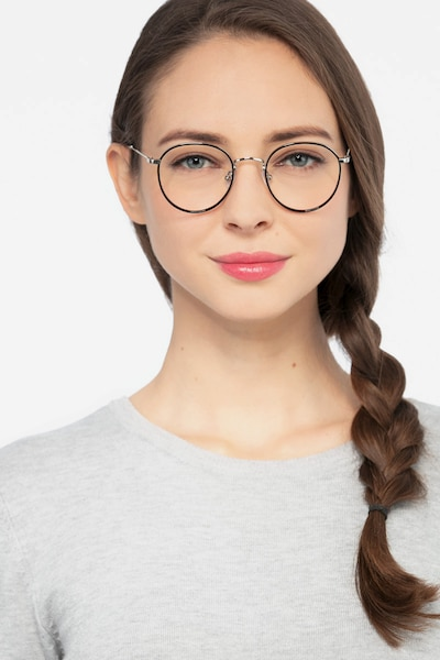 Alchemist Black Acetate Eyeglass Frames for Women from EyeBuyDirect, Front View