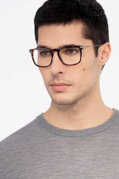 Glory Tortoise Acetate Eyeglass Frames for Men from EyeBuyDirect